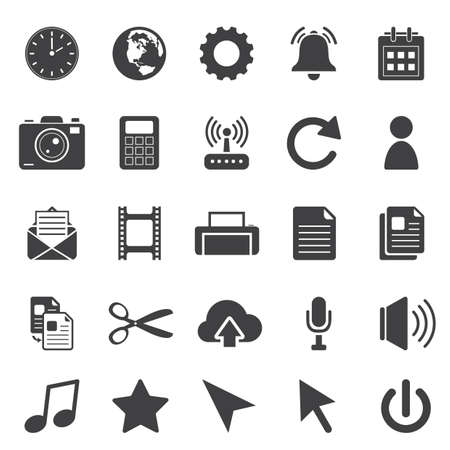 voice mail: computer icon set