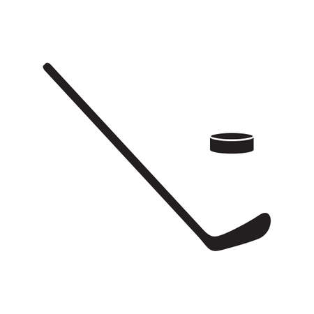 puck: hockey stick and puck