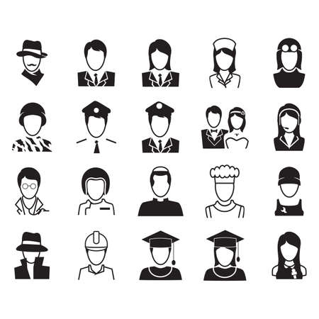 professions: people with different professions Illustration