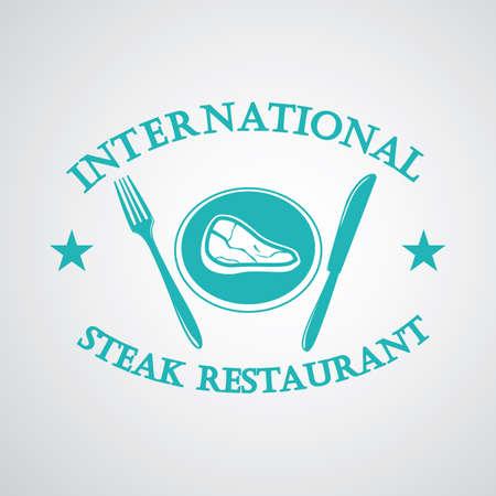 eatery: steak restaurant label