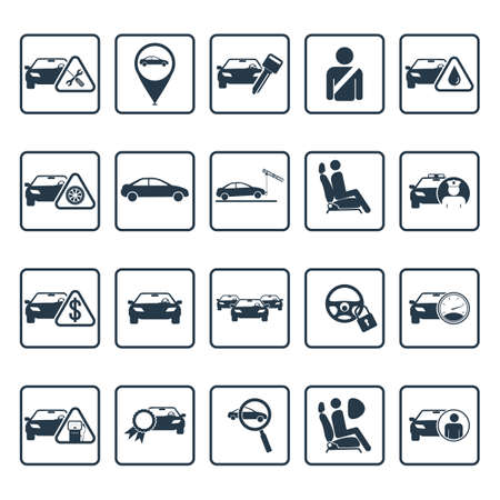 servicing: car servicing icons