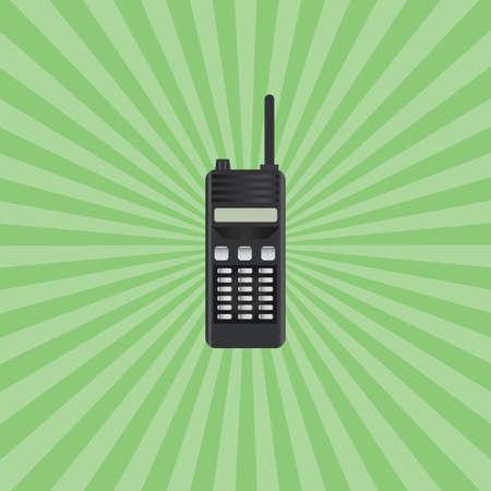 walkie talkie: retro walkie talkie Illustration