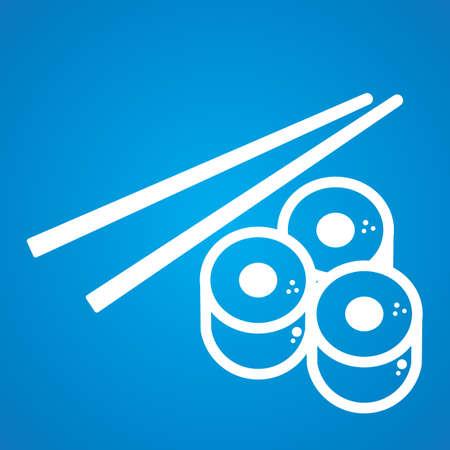 chopstick: chopstick and sushi