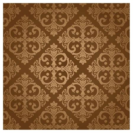 patter: damask vintage brown patter