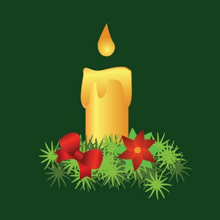 burning: burning decorative candle