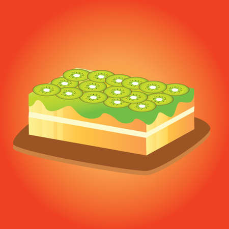 kiwi fruit: cake with kiwi fruit topping