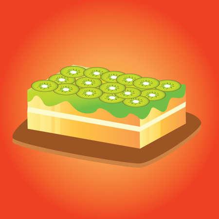 topping: cake with kiwi fruit topping