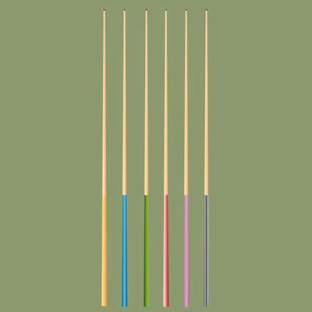 cue sports: cue sticks