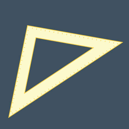 protractor: triangle protractor Illustration