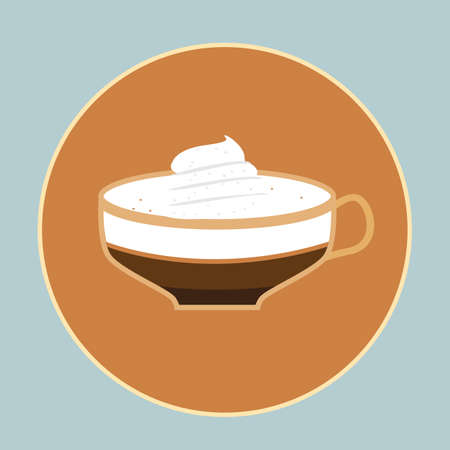 whipped: cup of coffee with whipped cream