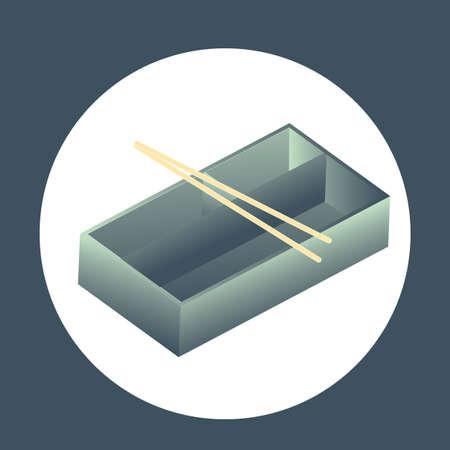 bento: bento box with chopsticks Illustration