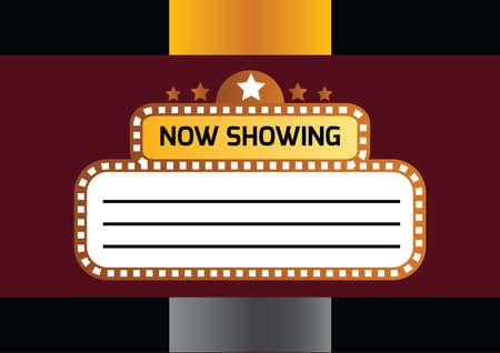 showtime: retro showtime sign