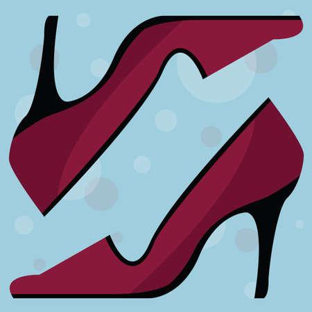 footgear: high heel shoes