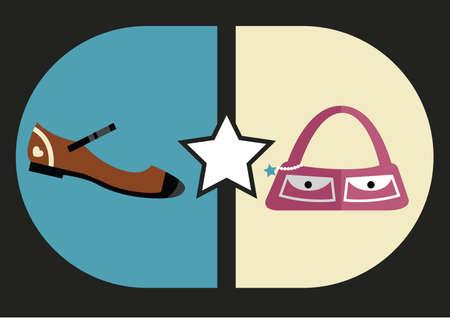 womans footwear and handbag