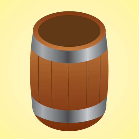 wooden barrel: wooden barrel