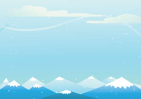 snowy: snowy mountains background Illustration