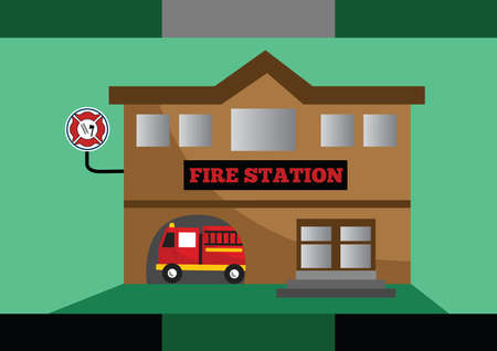 fire brigade: fire station
