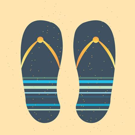 sandalias: Sandalias de playa Vectores