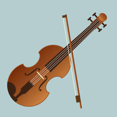 cellos: violin Illustration