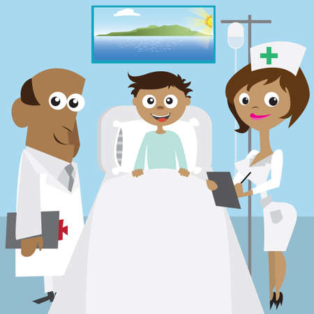 infusion: doctor and nurse with patient