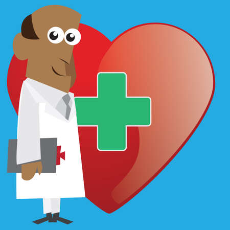 practitioners: doctor with heart shape