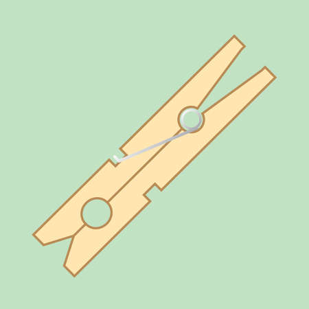 pegs: wooden peg Illustration