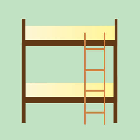bunk: bunk bed Illustration