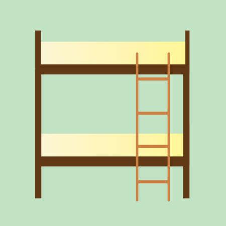 bunk: bunk bed Illustration