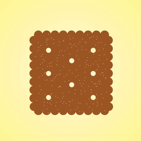 cracker: chocolate cracker Illustration