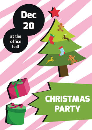 x mas parties: christmas party invitation Illustration