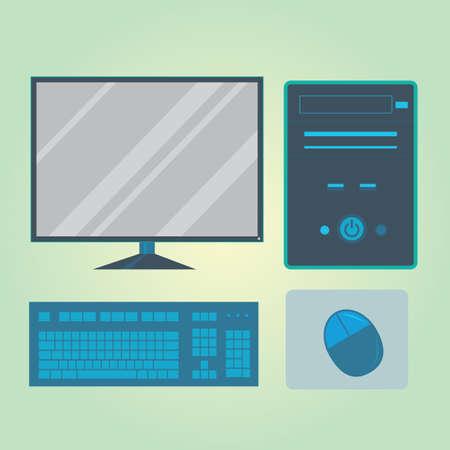 mouse pad: desktop computer Illustration