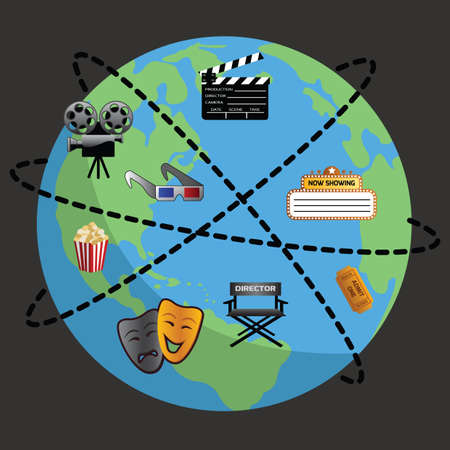 globe theatre: cinema equipment on globe