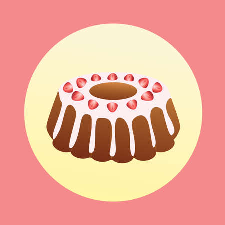 topping: cake with strawberry topping