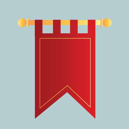 bandera del banderín Ilustración de vector