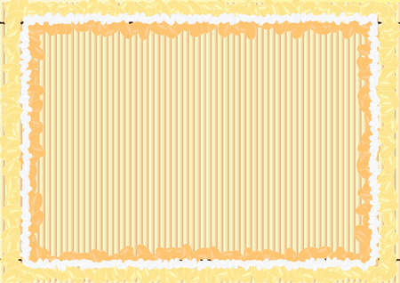 bamboo mat background with beans and rice frame Illustration