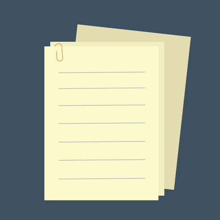 clipped: clipped blank papers