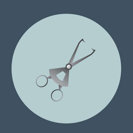 forceps: dental towel clamp sterilizing forceps Illustration