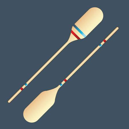 oar: paddles