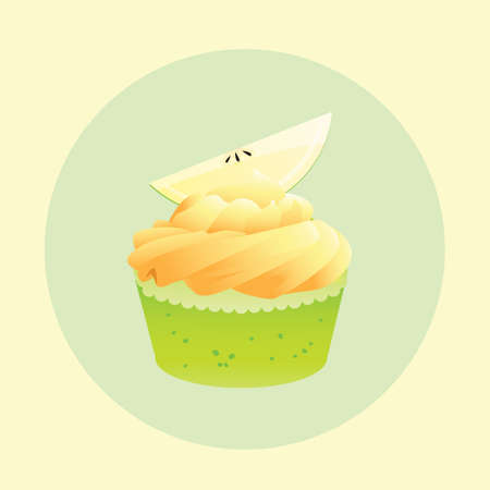 topping: cupcake with lime topping