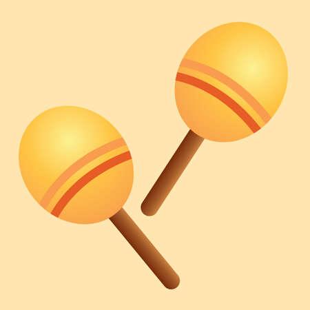 maracas: wooden maracas