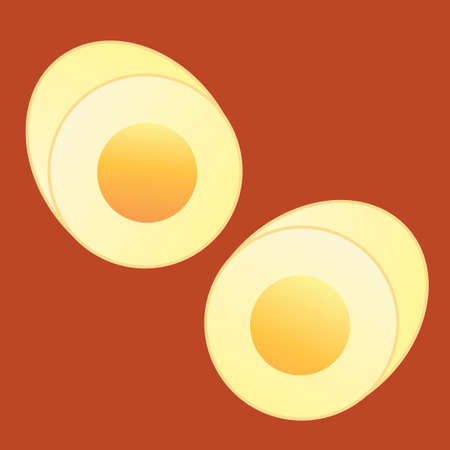 hard: hard boiled egg Illustration
