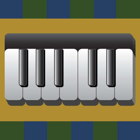accoustic: piano keyboard