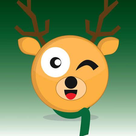 wink: reindeer wink