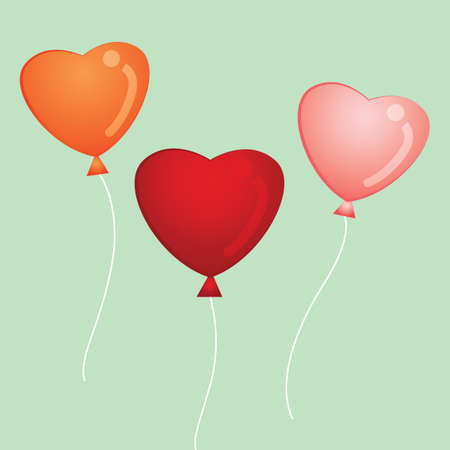 strings: heart shape balloons with strings