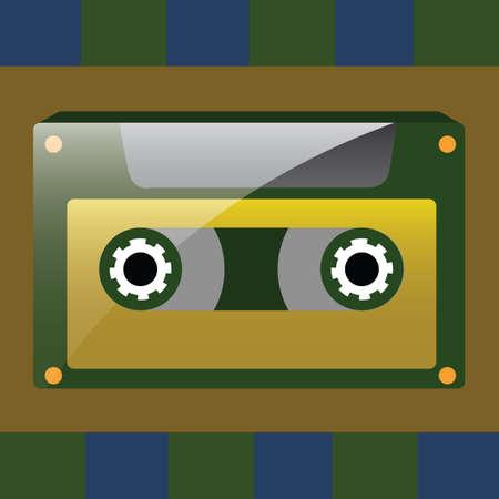audio cassette: audio cassette Illustration