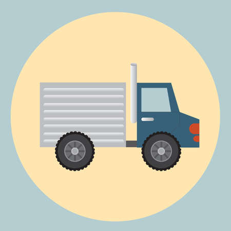 delivery truck: delivery cargo truck Illustration