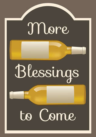 blessings: more blessing to come card Illustration