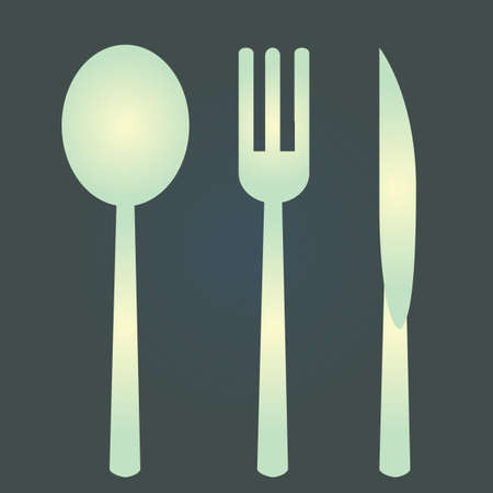 spoon fork: spoon, fork and knife