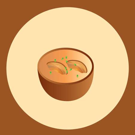 toppings: mushroom pizza Illustration