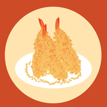 fried shrimp: shrimp tempura